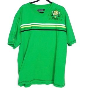 COOGI Men's Shirt Green Size XXL Green & Black